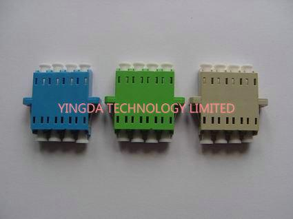 FTTH Rack Panel LC Quad Adapter , LC MM Optical Fiber Adapter Customized