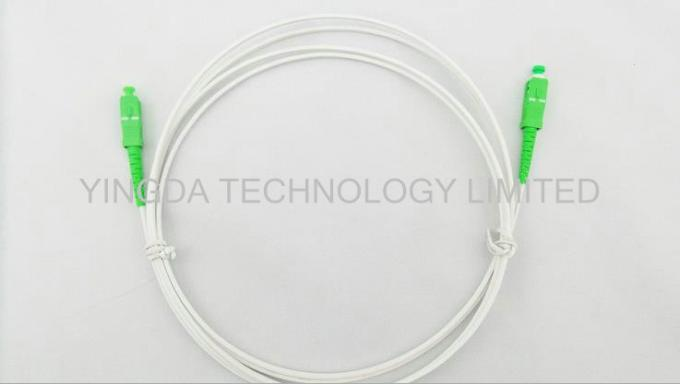 SC / APC - SC / APC Indoor Fiber Optic Patch Cord GJXFH G657A2 LSZH