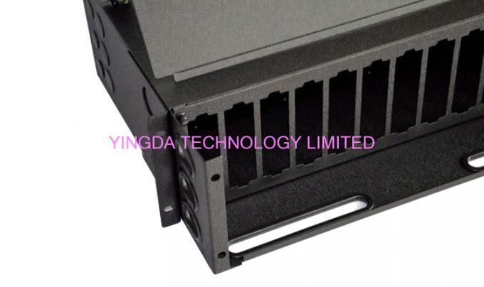 288 Fibers 19 Inch Slide Out Patch Panel , 3U MPO Enclosures Chassis 12 Cassettes