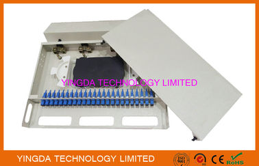 "Chiny 1U 24 Port 19"" SC SM 24 Cores Fiber Patch Panel SC Pigtail And SC Adapters fabryka"