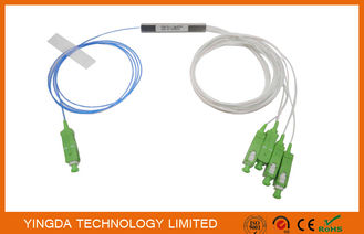 Chiny 1 * 4 SC / APC Blokada PLC Blok typu blister 900um FTTH PON Pasywne ODN LSZH 1Meter Pigtails fabryka