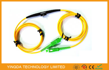 Chiny Adjustable SC FC LC MU Fixed In - line Fiber Optic Attenuator SM 1Meter Range 1 ~ 40dB fabryka