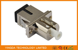 Chiny CATV Simplex Fiber Optic Adapter SC / LC , Zinc Alloy UPC and APC Multiple Adapter fabryka