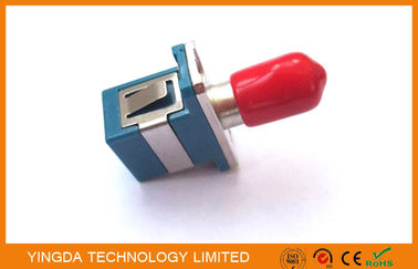 Chiny Multimode Hybrid Fiber Optic Adapter SC - ST Connector With Ceramic Sleeve fabryka