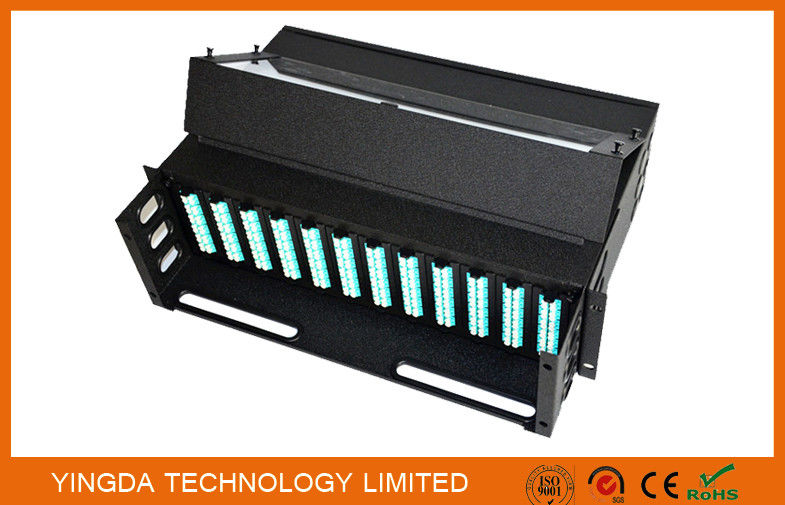 288 Fibers 19 Inch Slide Out Patch Panel , 3U MPO Enclosures Chassis 12 Cassettes dostawca