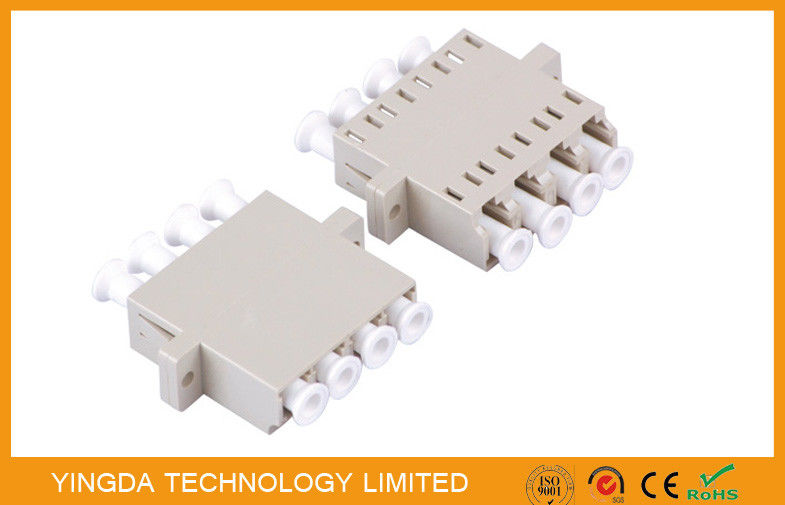FTTH Rack Panel LC Quad Adapter , LC MM Optical Fiber Adapter Customized dostawca