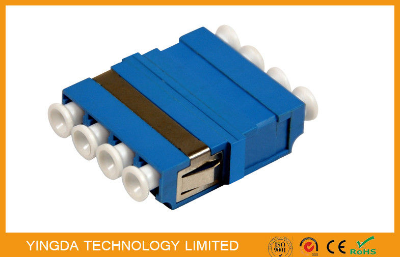 FTTH CATV LC/PC Fiber Optic Adapter 4 Way Blue ,  SM / MM LC Optical Adapter dostawca
