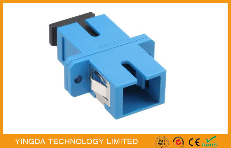 Single - mode Duplex Optic Fiber Adapter SC / UPC With Stainless Steel Clip dostawca