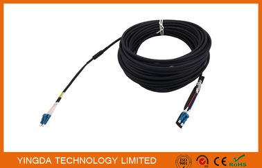 Chiny Duplex DLC LC Fiber Optic Patch Cord Leads 5.0mm 2 Core Optical Cable Assembly dystrybutor