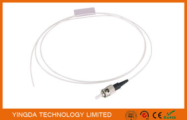 Chiny ST UPC SM SX Pigtail , Optic Fiber Pigtails ST Singlemode Simplex White Cable dystrybutor